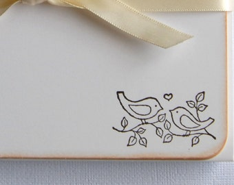 Wedding Thank You Cards - Flat Note Cards - Set of 10