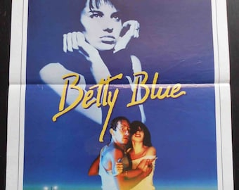 "Poster original movie BETTY BLUE. ""37 ' 2 le matin"" by Jean-Jacques Beineix 1986."