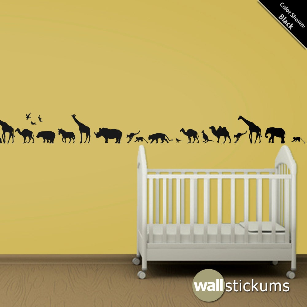 Safari Animals 10 Wall Decal Africa Vinyl Wall Art Decal