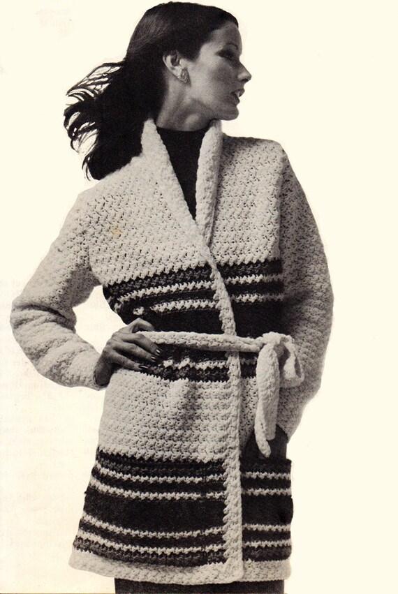 Crochet pattern womens long sweater coat crochet pattern crochet pattern womens long sweater coat crochet pattern sash tied sweater pattern instant download pattern pdf 1111 dt1010fo