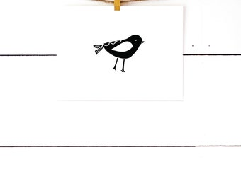 Gifts Under 20, Bird Print, Black and White Nursery Prints, Scandinavian Art, Minimal Art, Linocut Print, Lino Print, Bird Art, Nursery Art