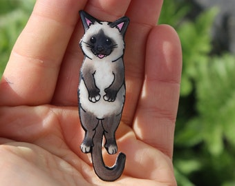 Himalayan Cat Magnet for car locker and fridge: great gift for cat lovers, Himalayan cat collector, cat presents or cat loss memorial
