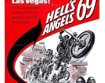 Spring Sales Event: HELLS ANGELS '69 Movie Poster Biker Exploitation