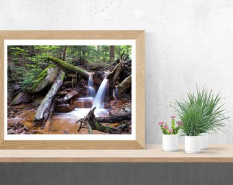 Rejuvenating Waterfall Landscape Fine Art Photo Print