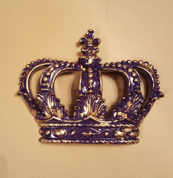 Bed Crown Canopy Crib Crown Nursery Design Wall Decor: Purple Gold Crown Wall Decor Nursery Decor Crib Crown Canopy