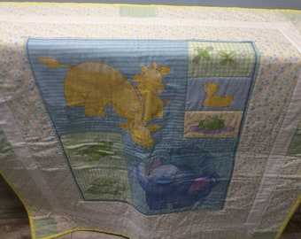 Neutral Quilt, Baby Quilt, Animal Quilt, Quilts, Snuggles, Blue Quilt, Girl Quilt, Boy Quilt, Blanket