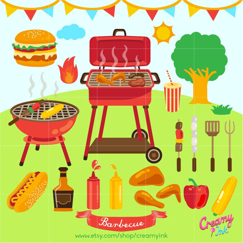 barbecue digital clip art bbq party digital clipart design. Black Bedroom Furniture Sets. Home Design Ideas