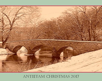 Burnside Bridge Antietam Christmas with Encrypted Message