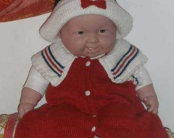 baby sailor dress and matching Hat