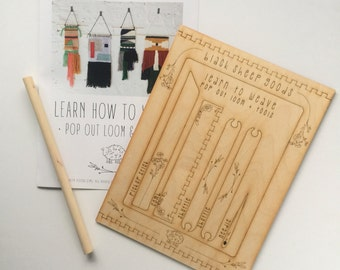 Pop Out Loom & Tools//DIY//Crafts//Beginner//Weaving