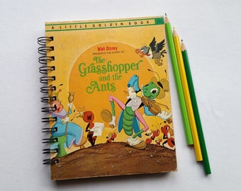 The Grasshopper and the Ants, Recycled Little Golden Book Journal