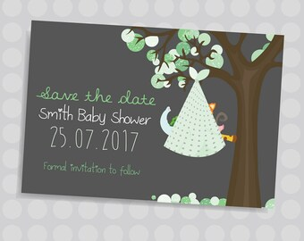 Baby blanket, Baby animals, Save the date and Invite bundle, Baby shower, Cute animals || Downloadable Invitation || Printable JPG/PDF