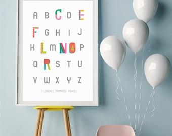 Personalised alphabet name print