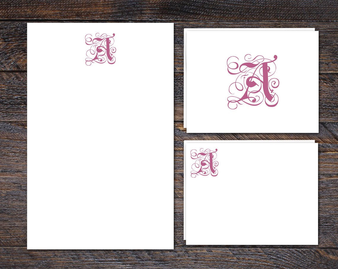 Monogram Stationery Set - Regency