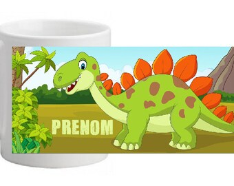 """Little DINO"" custom ceramic MUG"