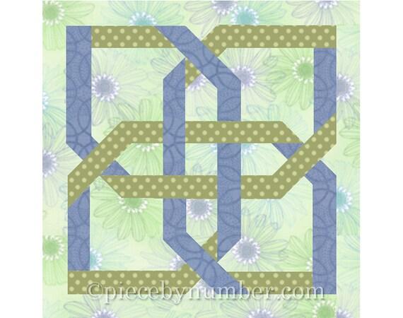 Quatrefoil Knot Quilt Block Paper Pieced Quilt Block Pattern