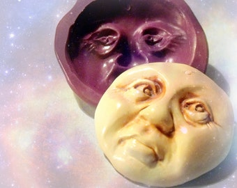 Large Mystic Moon face flexible silicone mold / mould