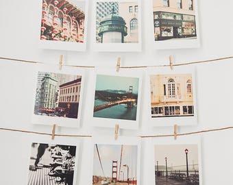 San Francisco gift set, San Francisco photos, small wall art, nursery decor, California photography, stocking stuffer, 9 mini art prints