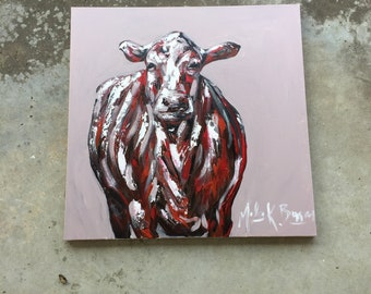 Abstract original Cow Painting
