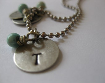 Simple Stamped Initial Pendant