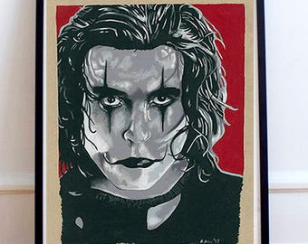 Eric Draven Brandon Lee The Crow Drawing Print
