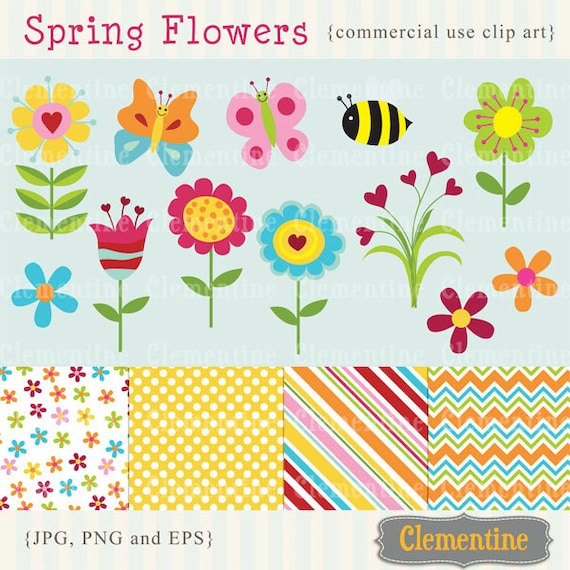 Spring flowers clip art images flower clipart flower spring flowers clip art images flower clipart flower vector royalty free clip art instant download mightylinksfo Choice Image