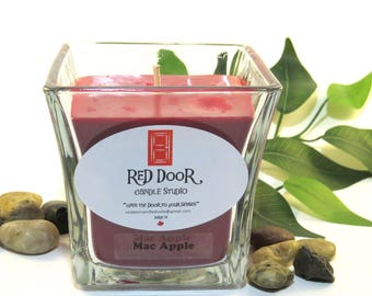 Mac Apple Soy Wax Candle-Scented Candle-Teacher gift