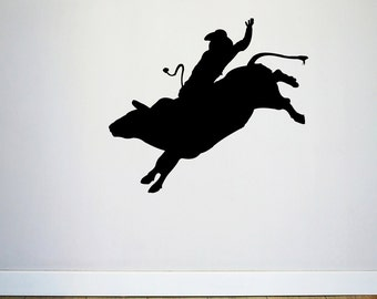 Bull Rider - Sports Man Cave Wall Decals