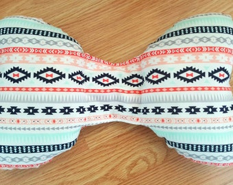 Aztec Infant Head Support - Torticollis - Positional Plagiocephaly - Elephant Ear Pillow - Car Seat Head Support - Unique Baby Shower Gift