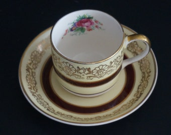Vintage, Johnson Bros England Demitasse Cup and Saucer Set