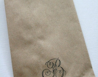 QTY 175 Extra Small Recycled Brown Paper Flat Merchandise Bags - 3 1/4 Inches x 5 1/4 Inches