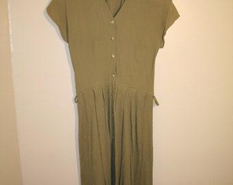 Green Summer Mid Length Dress
