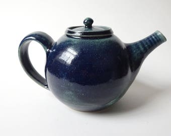 Blue Green Teapot - Handmade Ceramic Teapot - Teapot possible to use with loose tea leaves - Pottery - 1.2 litre