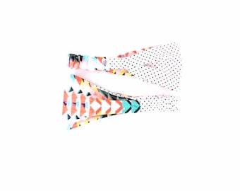 Colorful Headband - Reversible Headband - Headband - Running Headband - Zen Bird Band - Yoga Headband - Hair Accessory - Summer Headband