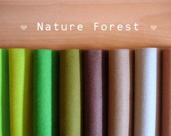wool felt, Nature Forest -Irisfelt Collection- 8 pieces 15 x 20cm