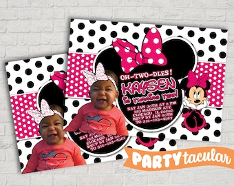 Minnie Birthday Invitation