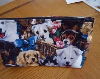 Dog Galore Cosmetic Bag Makeup Bag