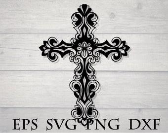 Mandala cross svg / zentangle cross svg / mandala for cricut / zentangle for cricut / cricut design svg / cricut vinyl svg / mandala svg
