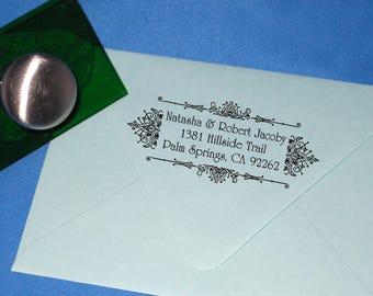 Victorian Wedding Return Address, Custom Return Address, Wedding Stamp, Personalized Rubber Stamp, Self Inking Stamp, Formal, Fancy, Elegant