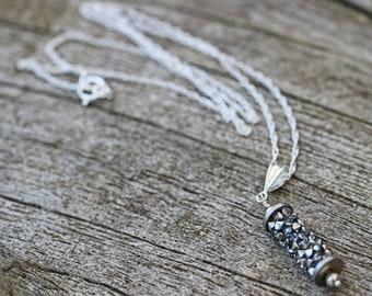 Swarovski Crystal CAL & Sterling Silver Necklace Birthday Anniversary Gift