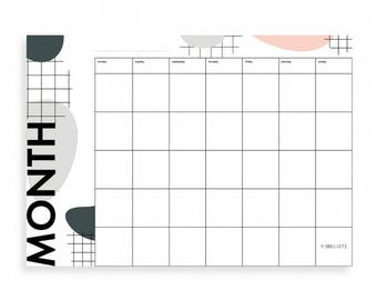 Moodboard-Monthly Planner (set of 6)/memo, mural, Pinboard, board, organizer, wall decor, to-do list, Notepad.