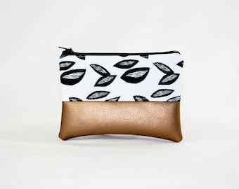 Mini sac - amande, sac, sac cosmétique, sac à main, trousse, végétalienne, minimaliste, poche, étuis à crayons,
