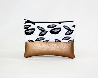 Mini bag - almond, bag, cosmetic bag, purse, make-up bag, vegan, minimalist, pouch, pencil case,