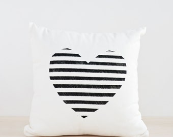 Heart Pillow Cover, Geometric Throw Decorative Pillow, Love Cover Pillow, Wedding Pillow, Valentines Gift, Wedding Gift, Personalized Gift
