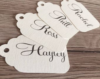 Place name tags, pack of 10, name tags, wedding name tags, wedding place cards, wedding place settings, wedding stationery