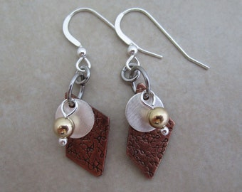 today is a good day earrings motivational copper sterling silver gold filled