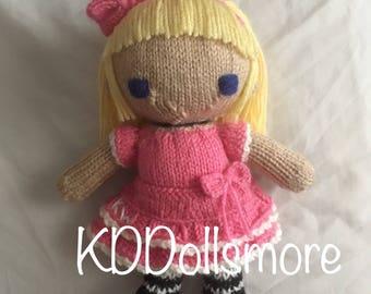 Handknit Kristine Doll