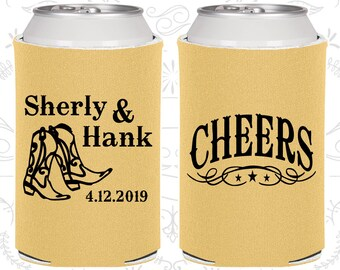 Gold Wedding, Gold Can Coolers, Gold Wedding Favors, Gold Wedding Gift, Gold Wedding Decor (11)