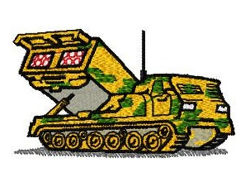 Military Tank Machine Embroidery Design, Instant Download, 4x4 Hoop, PES Format and more