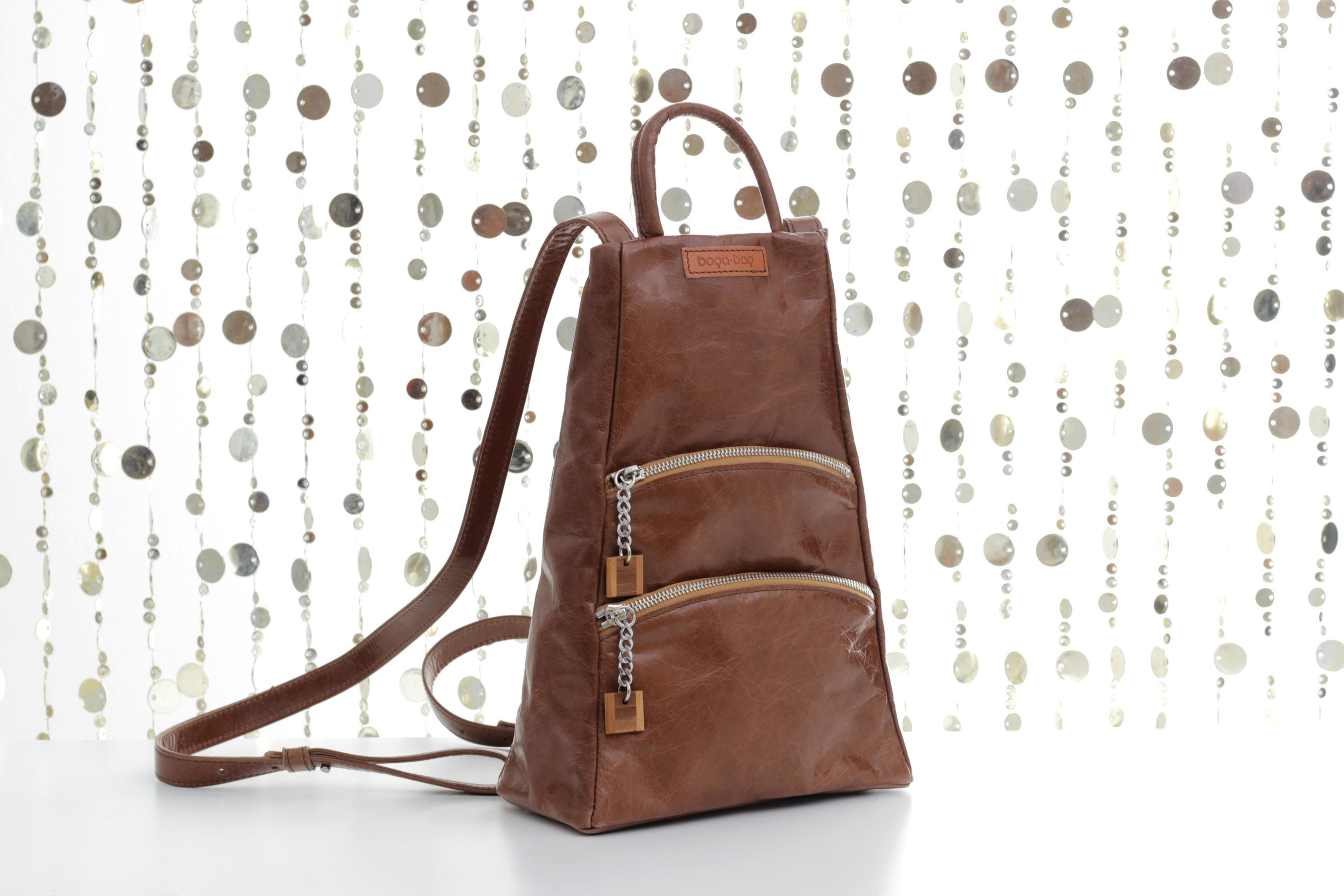 Brown leather backpack brown backpack backpack purse